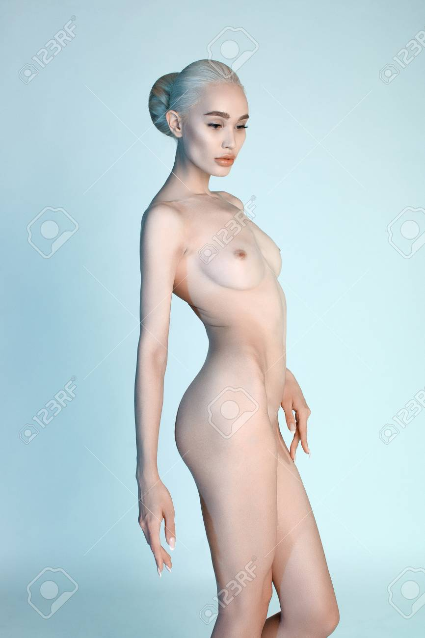 Sexy blonde blue naked